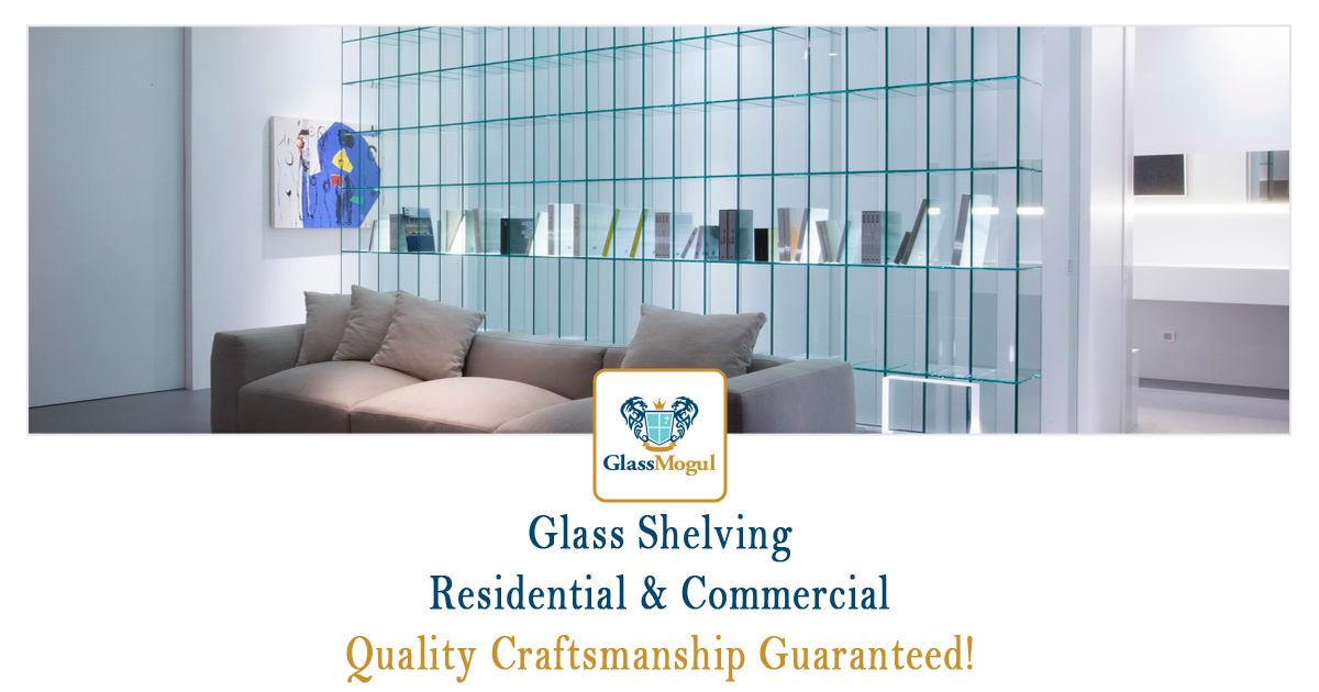 Residential Glass Shelving Unit