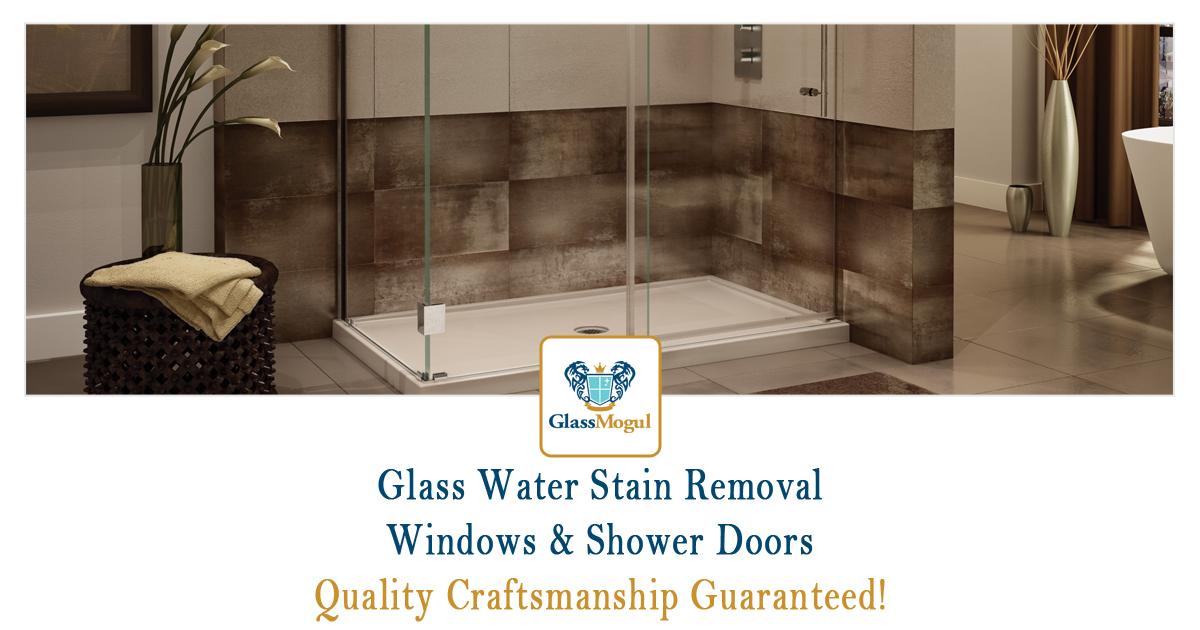 Shower Door Water Stain Removal